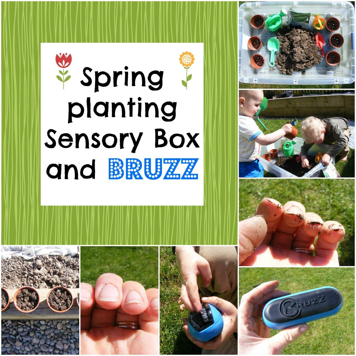 Spring Planting Sensory Box and BRUZZ