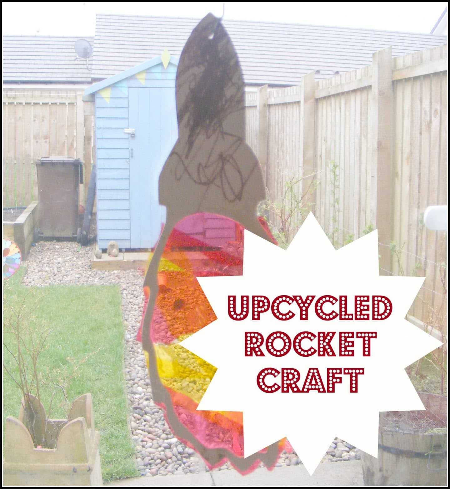 Upcycled Rocket Craft