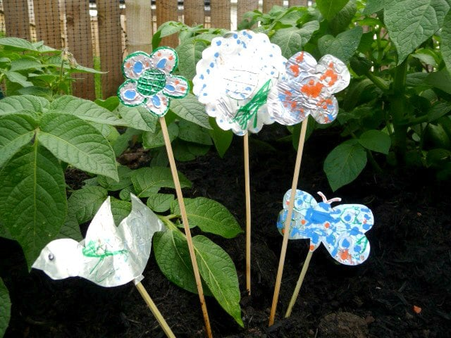 Upcycled Foil Plant Markers