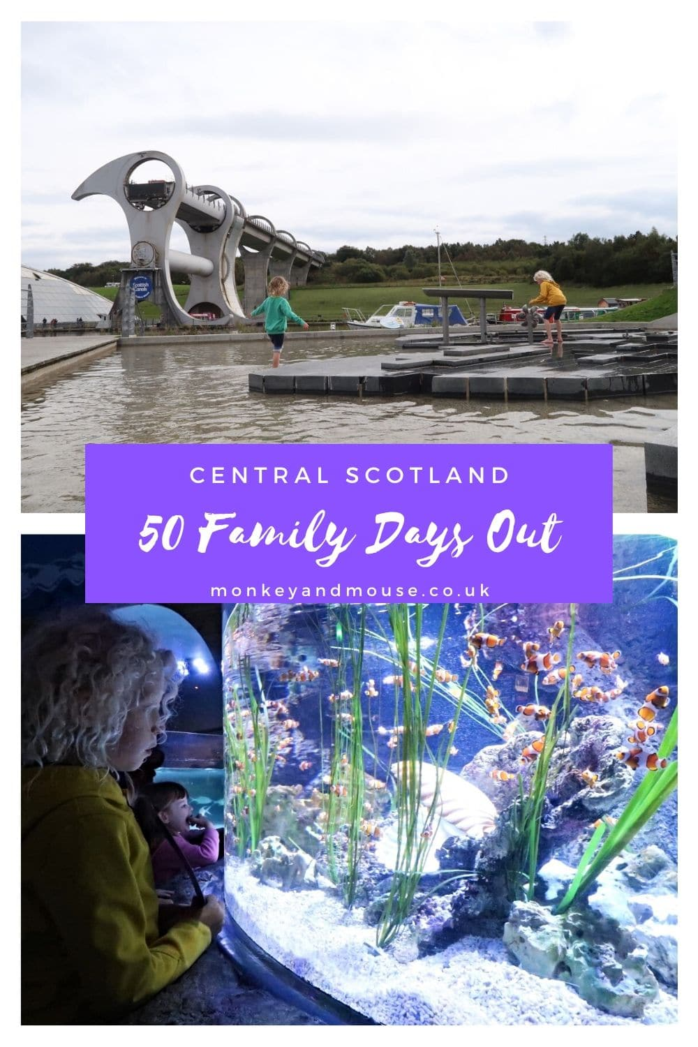 family days out scotland with Falkirk wheel