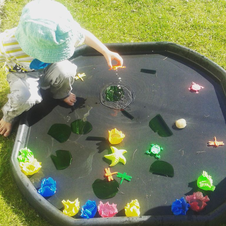 Frog pond small play monkey and mouse for Small frog pond ideas
