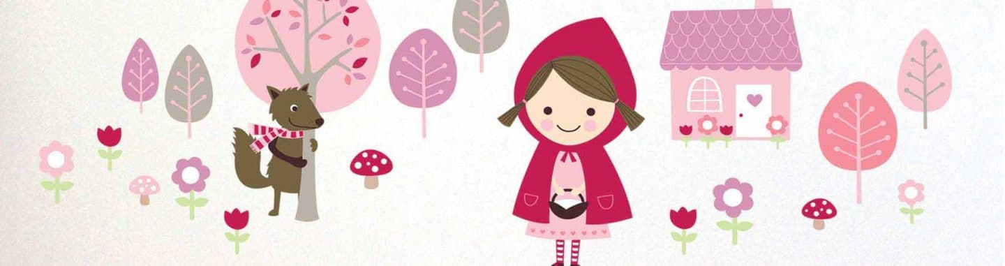 Red Riding Hood Wall Stickers - Kids Bedroom Wall Art - Lovably Me[1]