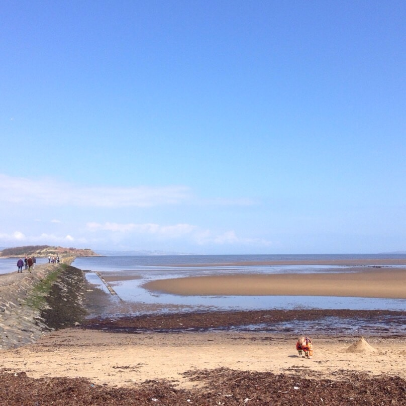 Cramond island beach