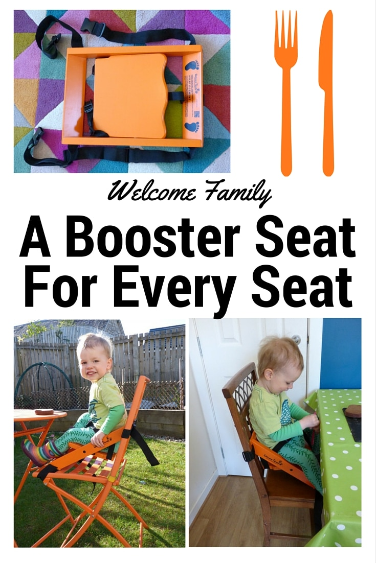 Portable folding booster seat