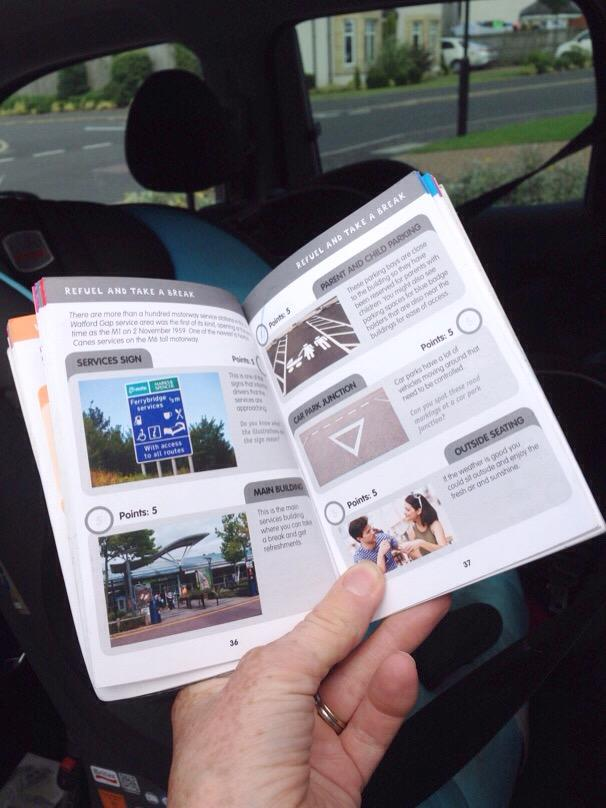 i-spy guide on the motorway