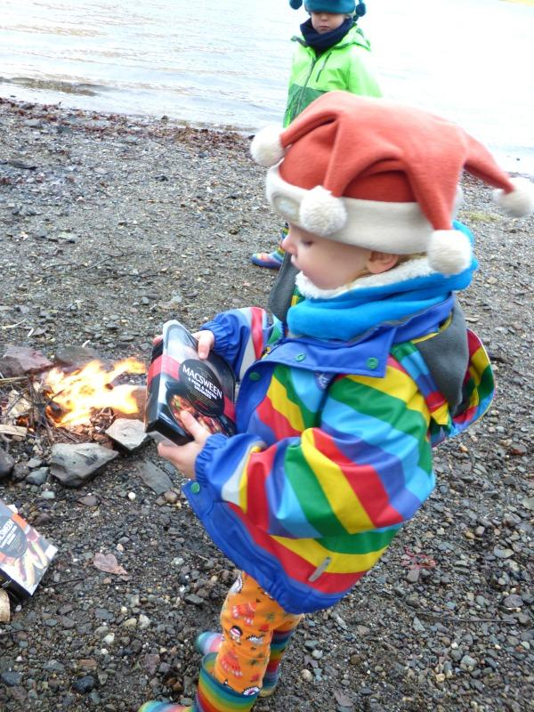 cooking outdoors with kids