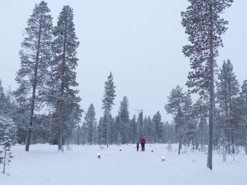 Santas lapland winter snow