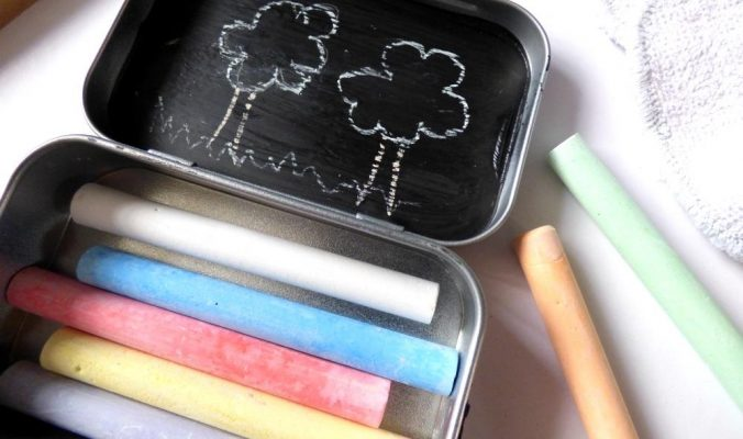 chalk tin busy bag