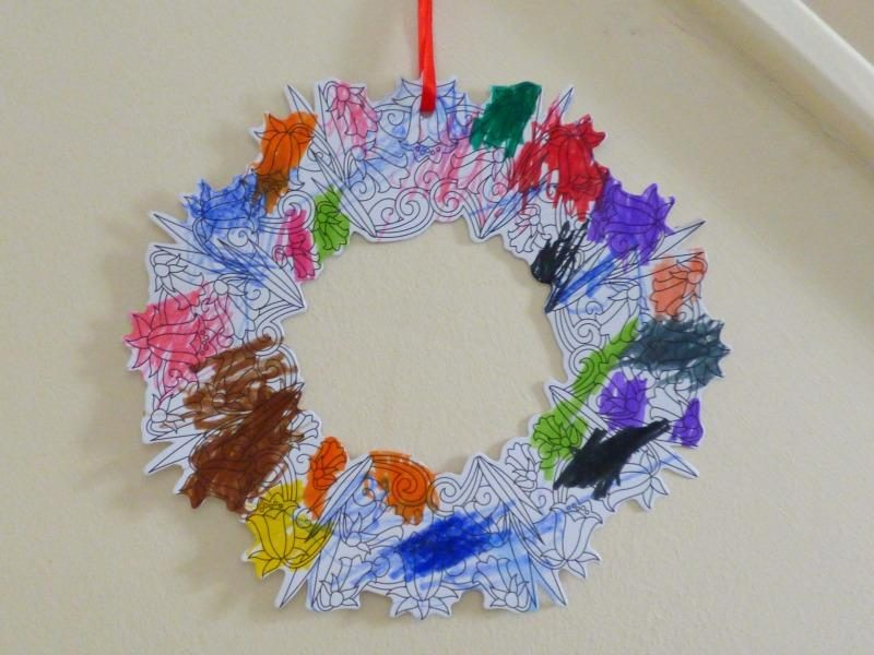 DIY craft wreath