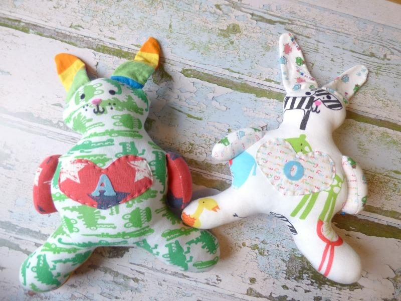Turning baby clothes into keepsakes monkey and mouse