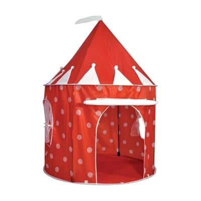 red kids tent