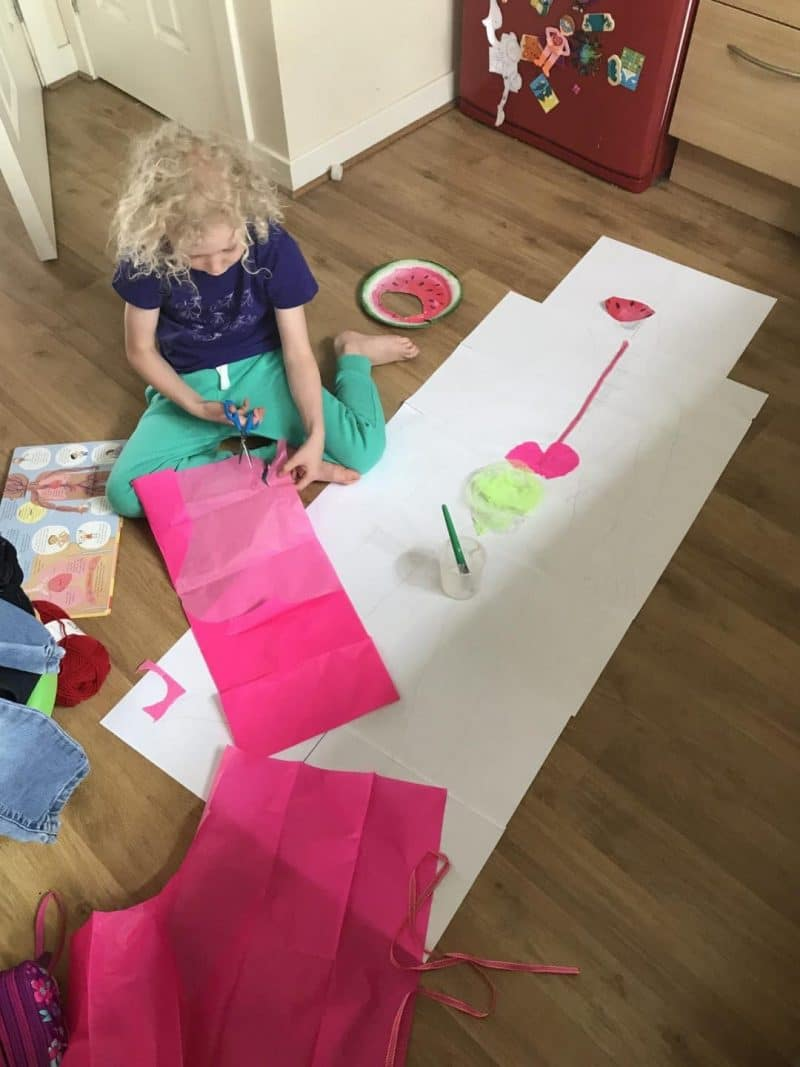home education creating organs on paper