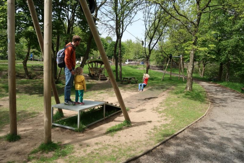 zip line at Crich adventure play park tramway museum