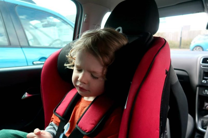sleeping the car seat
