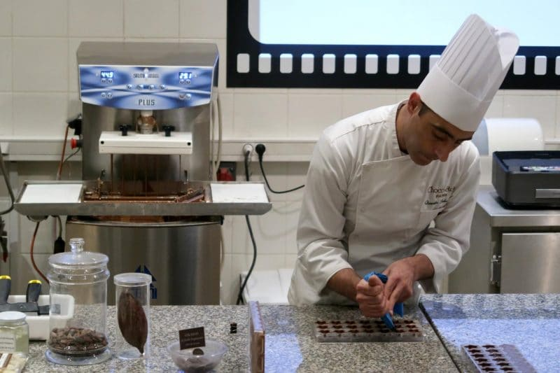 chocolate demonstration