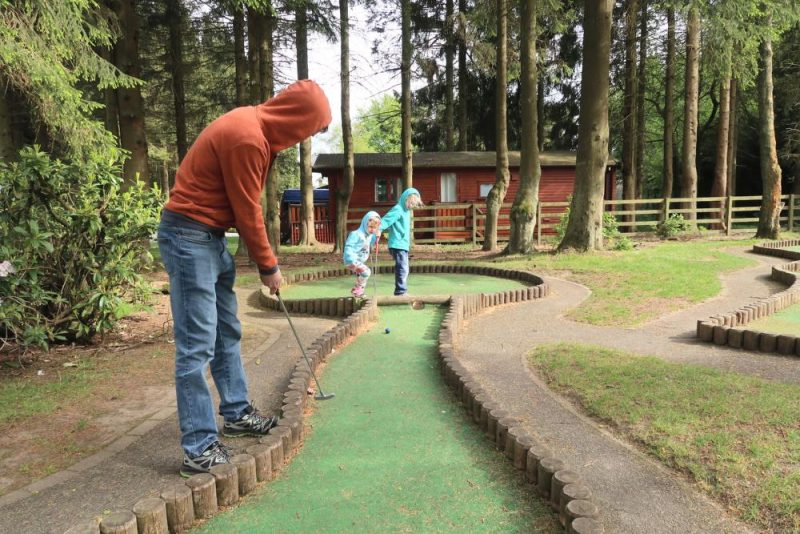 mini golf at Darwin Forest