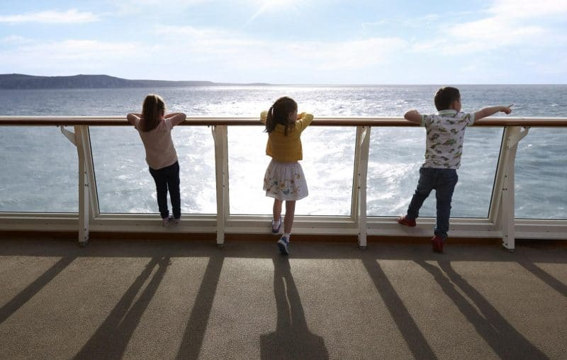 sundeck on P&O ferry
