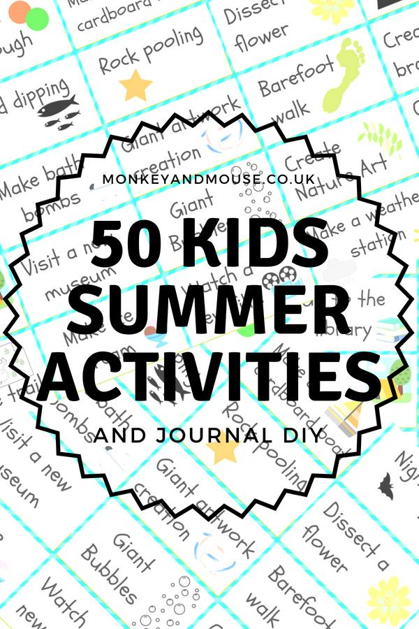 pinterest cover for summer activity list
