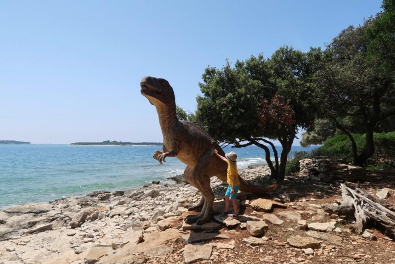 dinosaur on Brijuni islands