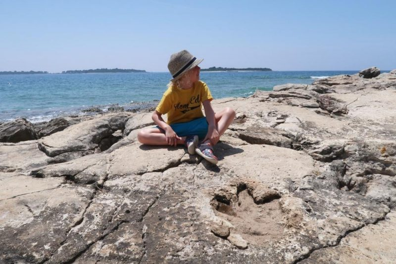 dinosaur footprint on Croatian island