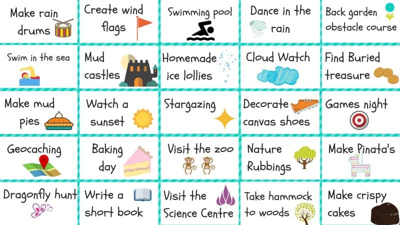 list of 50 summer activities