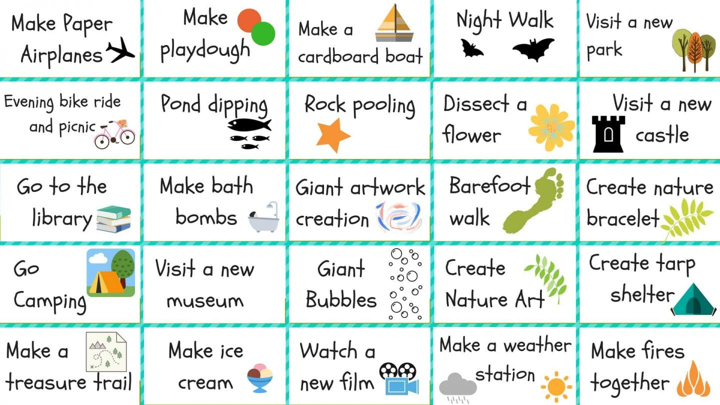 Kids Summer Bucket List Monkey And Mouse
