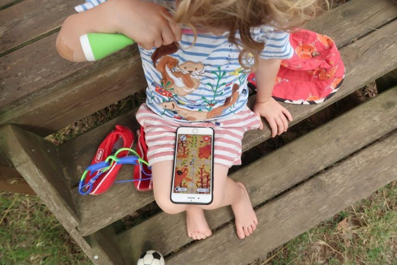 Playbrush toothbrushing app in use