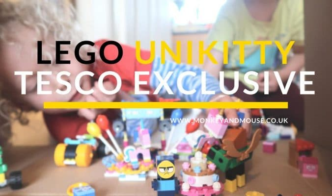 Tesco Unikitty Lego display