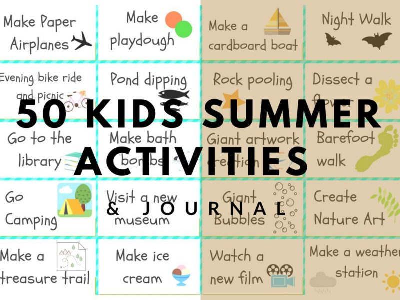 cover page for kids summer activitylist