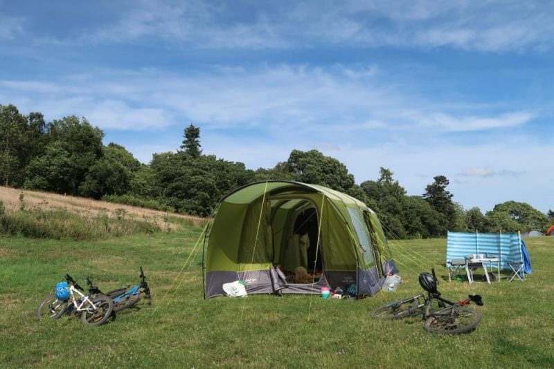 camping holiday Halfords tent