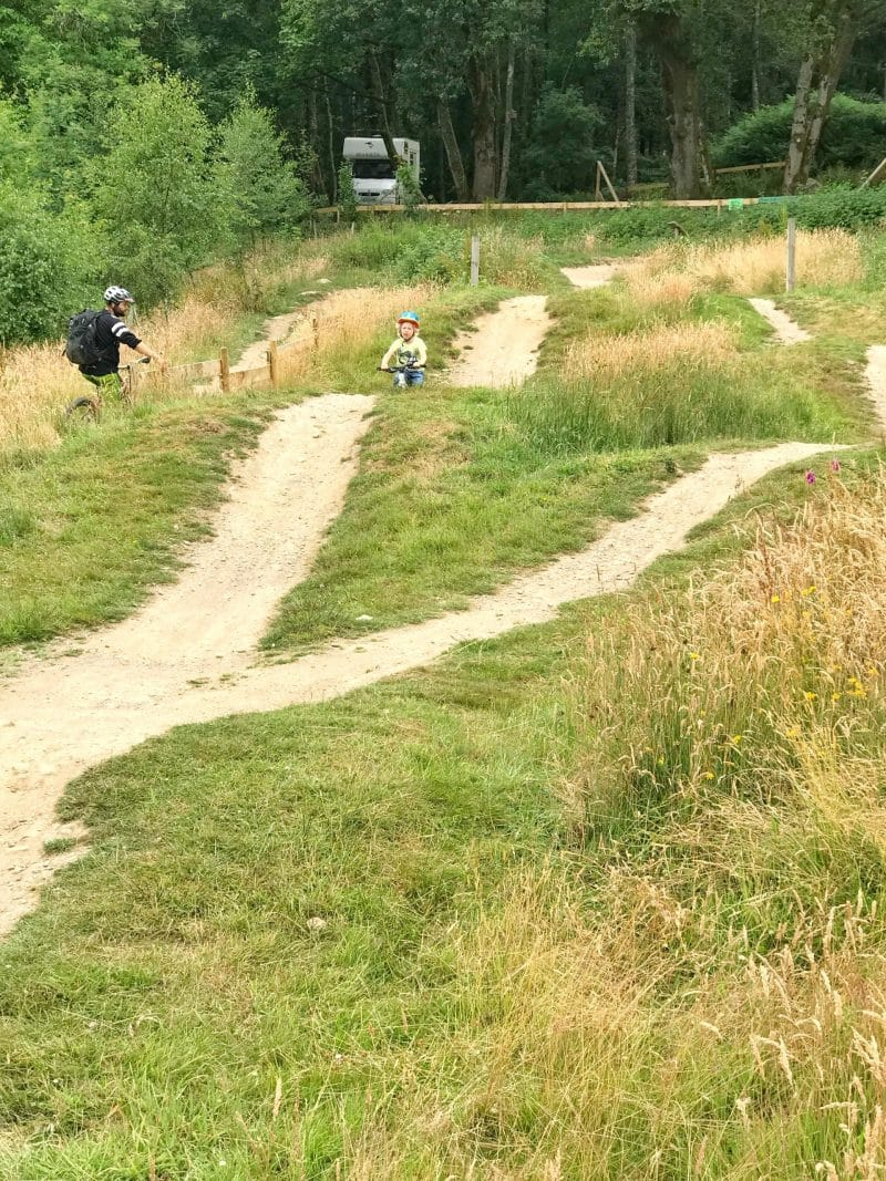 bike track at comrie croft