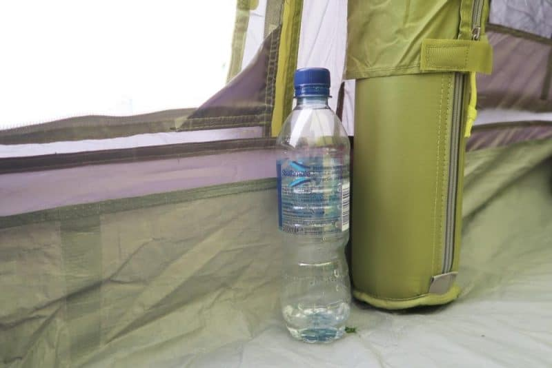water bottle beside airbeam