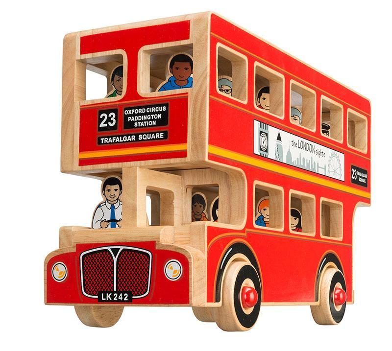 London bus wooden toy