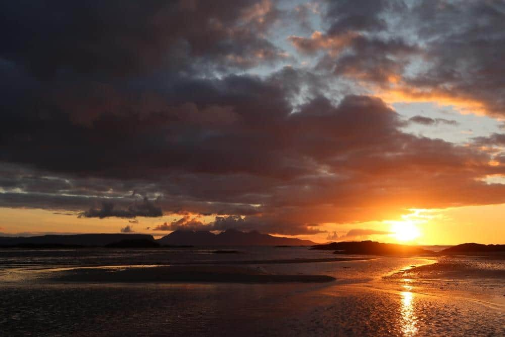 sunset over Rum and Eigg