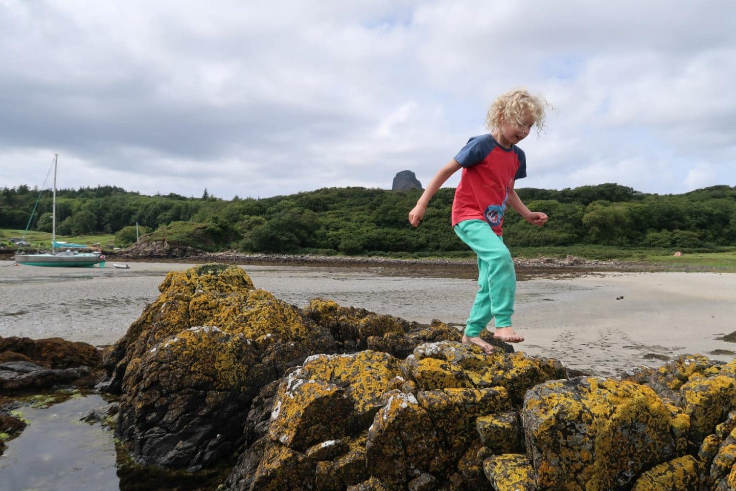 Isle of Eigg kids playing