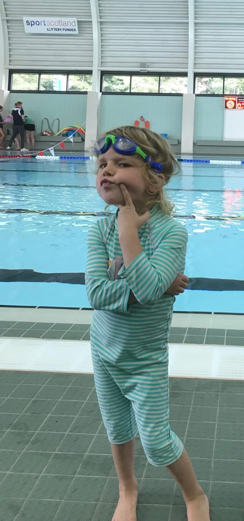 4 year old first swimming lesson