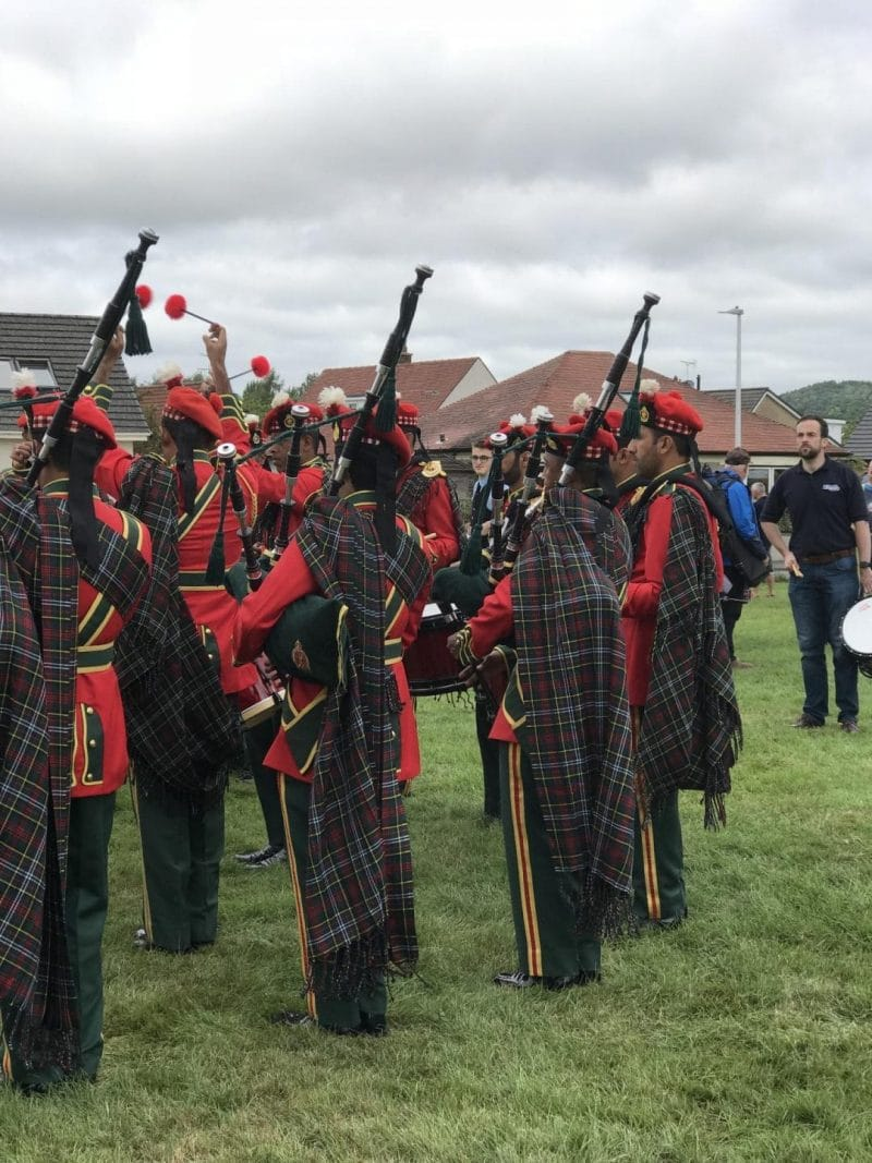 highland games bagpipes