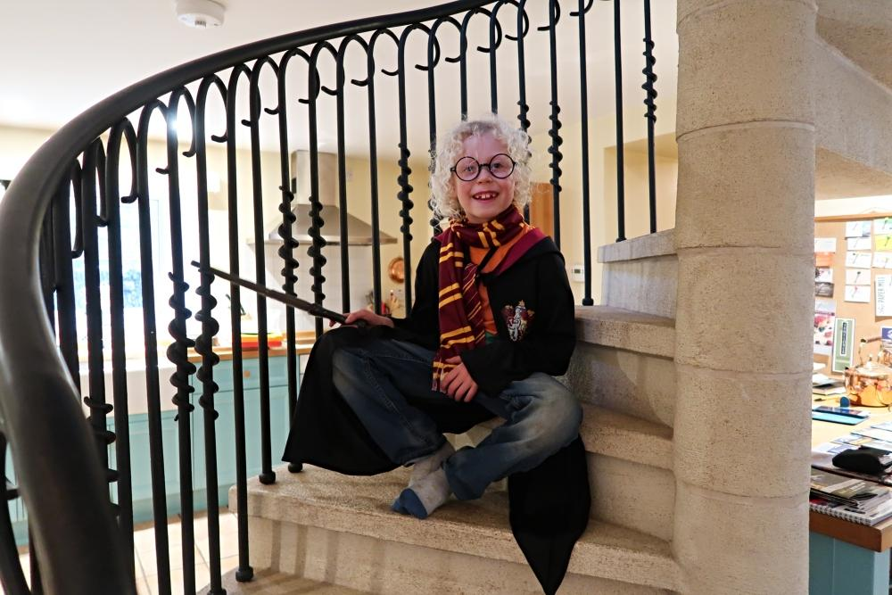 Harry Potter on staircase