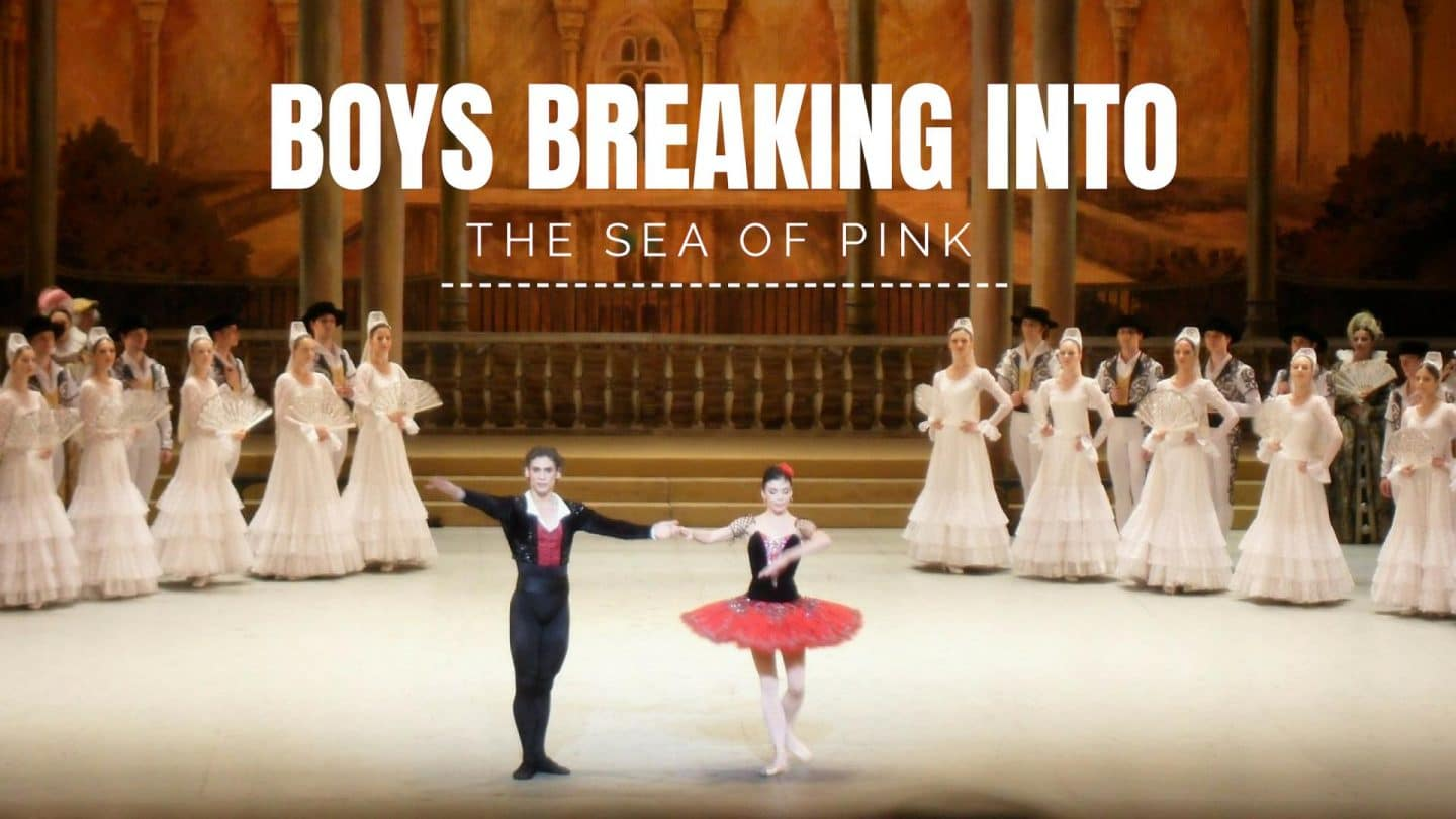 Boys Breaking Into The Sea Of Pink