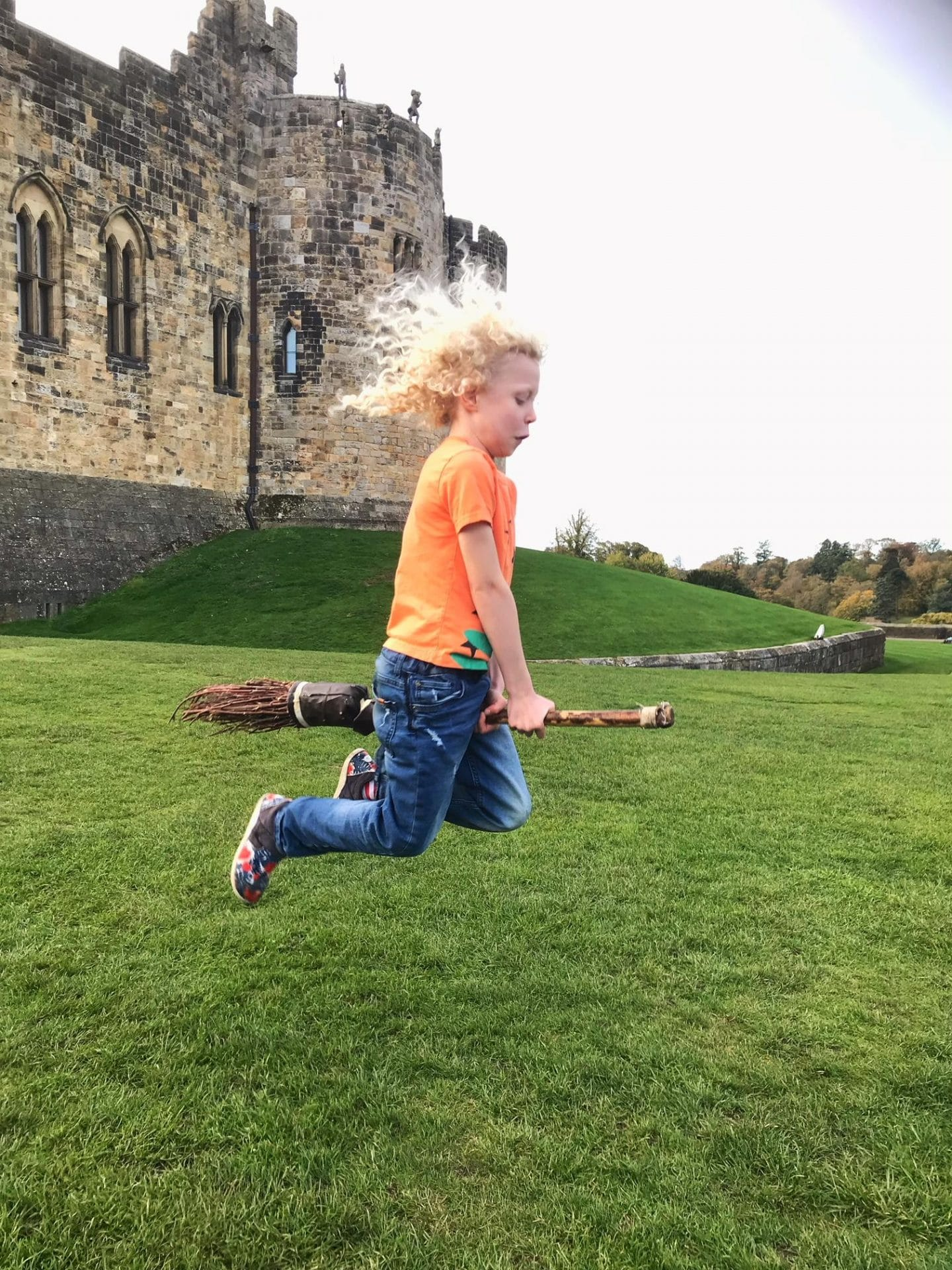 flying a broomstick