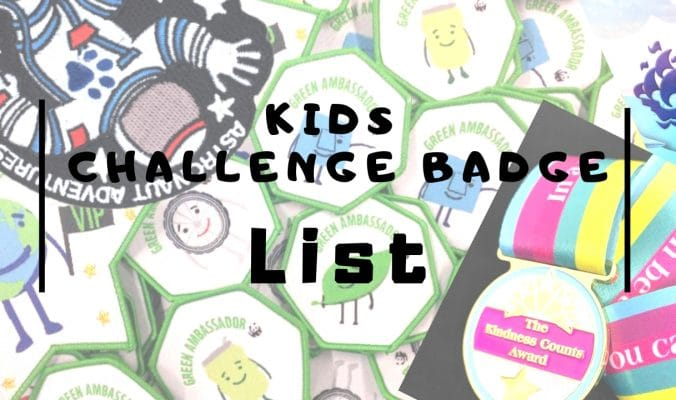 list of kids badges to earn