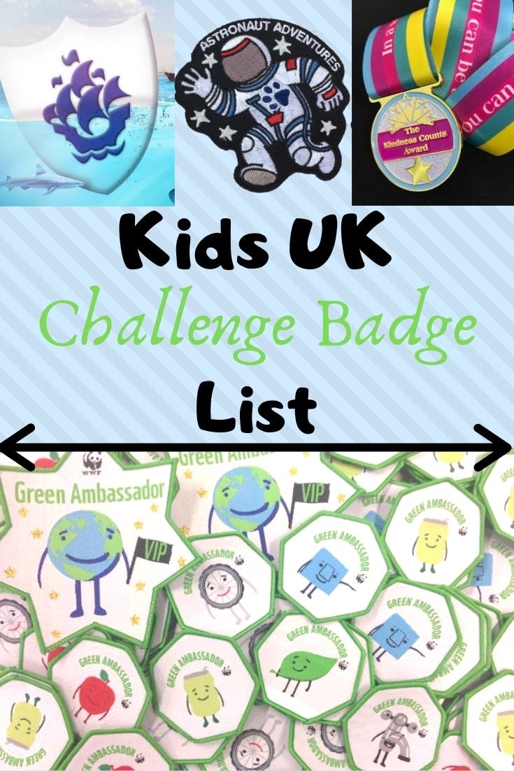 list of badges for children to earn at home