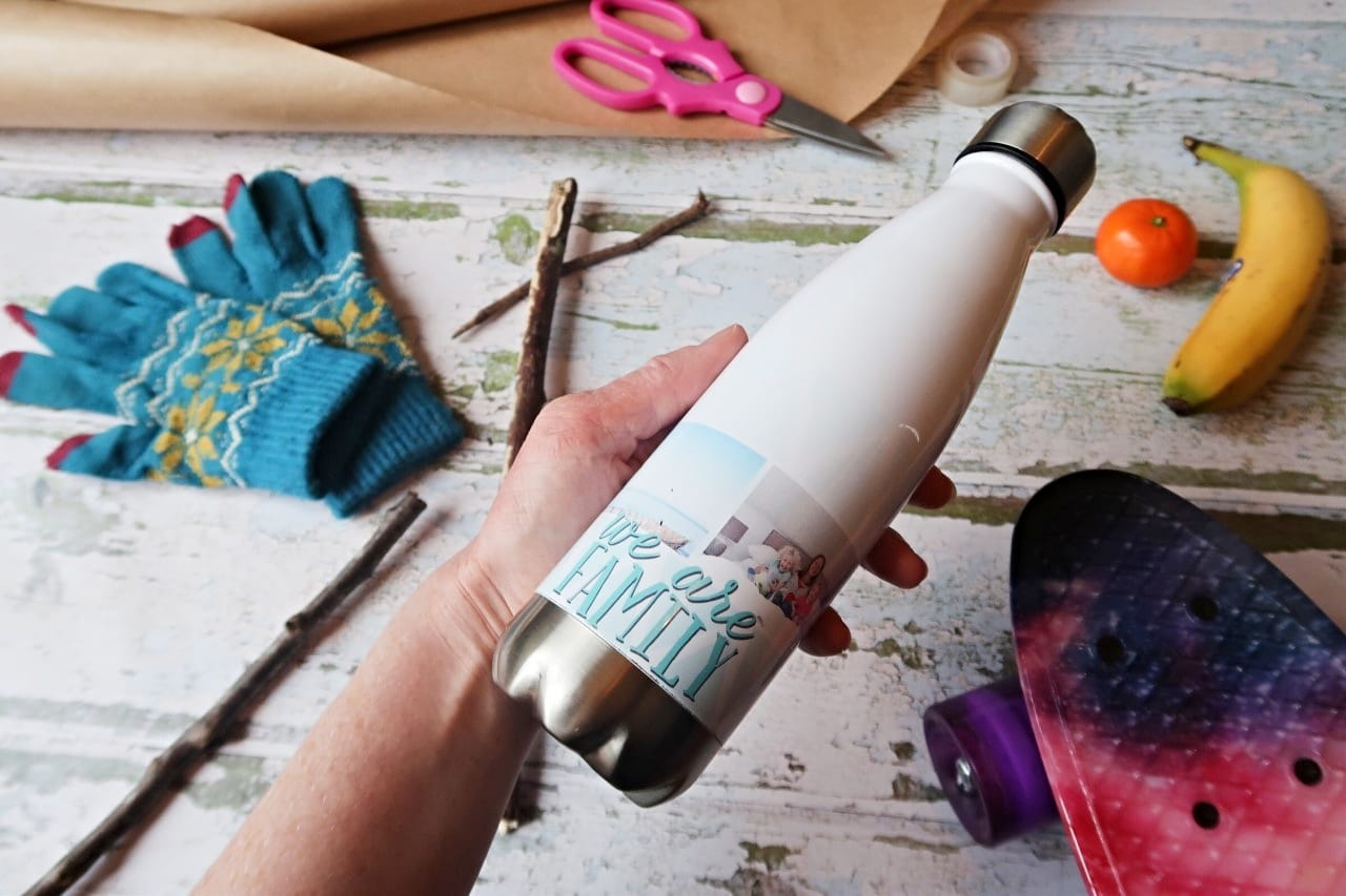 personalised water bottle gift