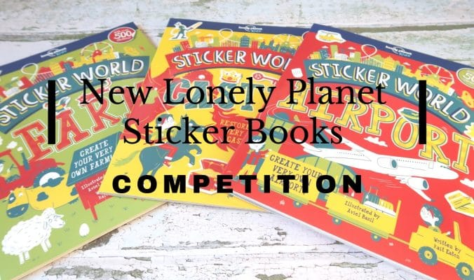 Lonely planet sticker books