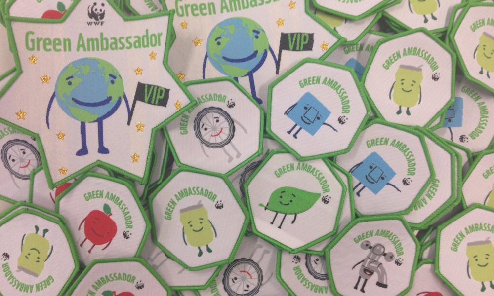 WWF green ambassador badges
