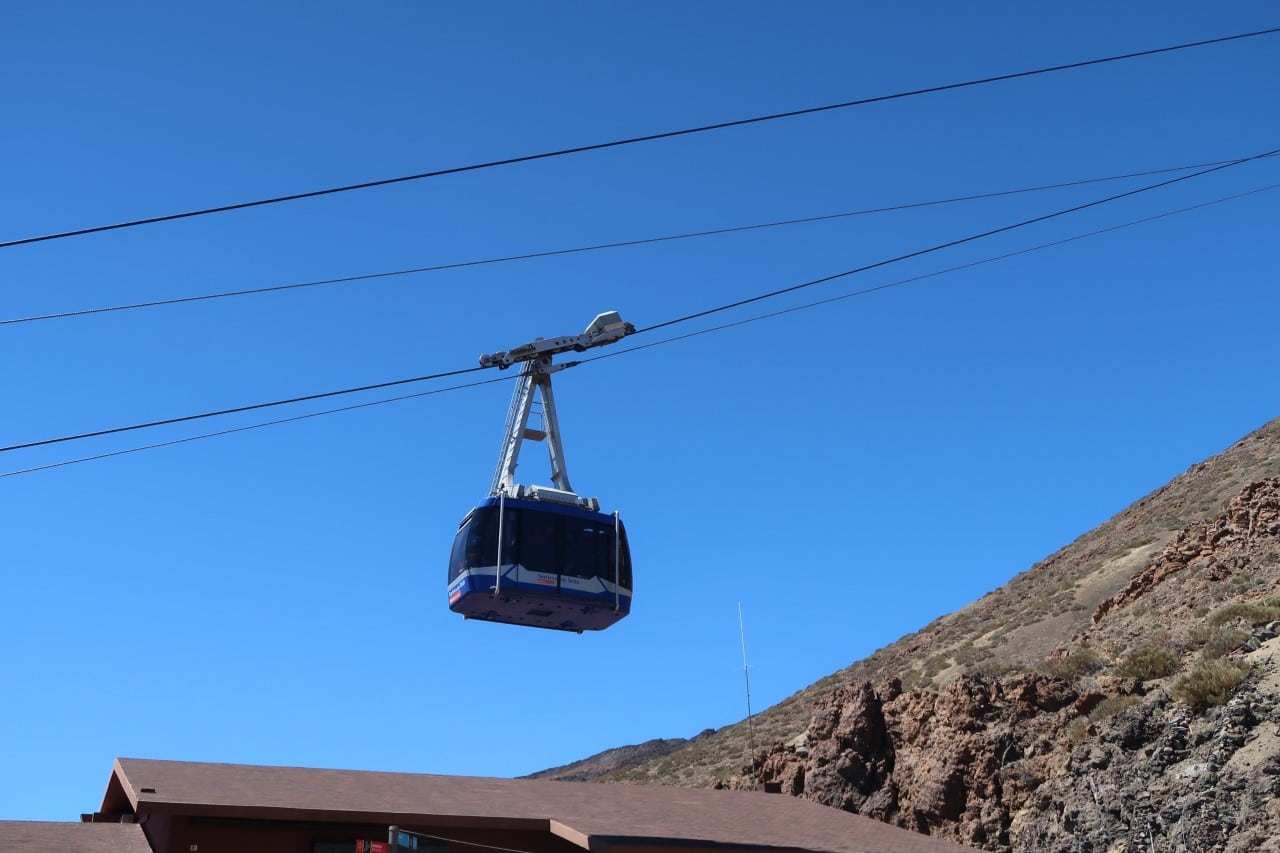 cable car up Mt Teide