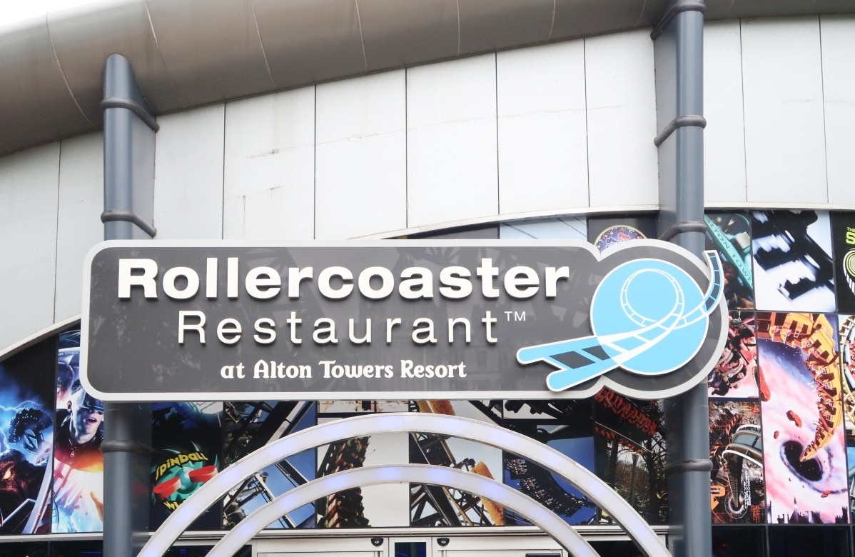 Rollercoaster restaurant sign