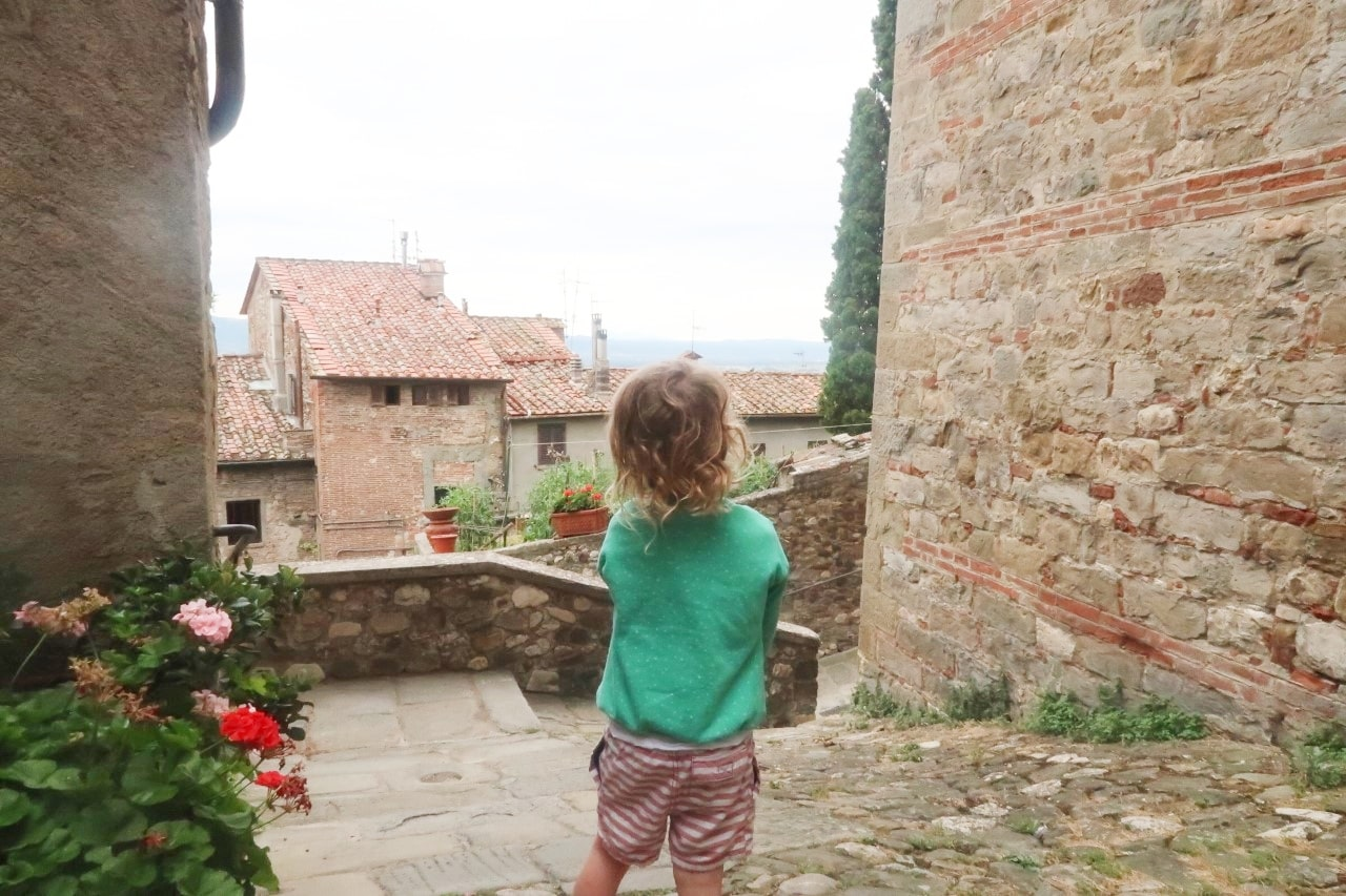 Child in Anghiari Italy