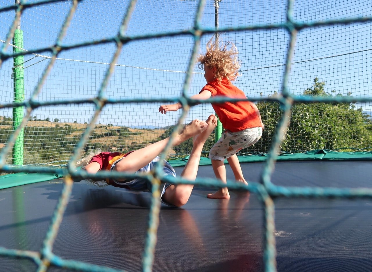 trampoline children