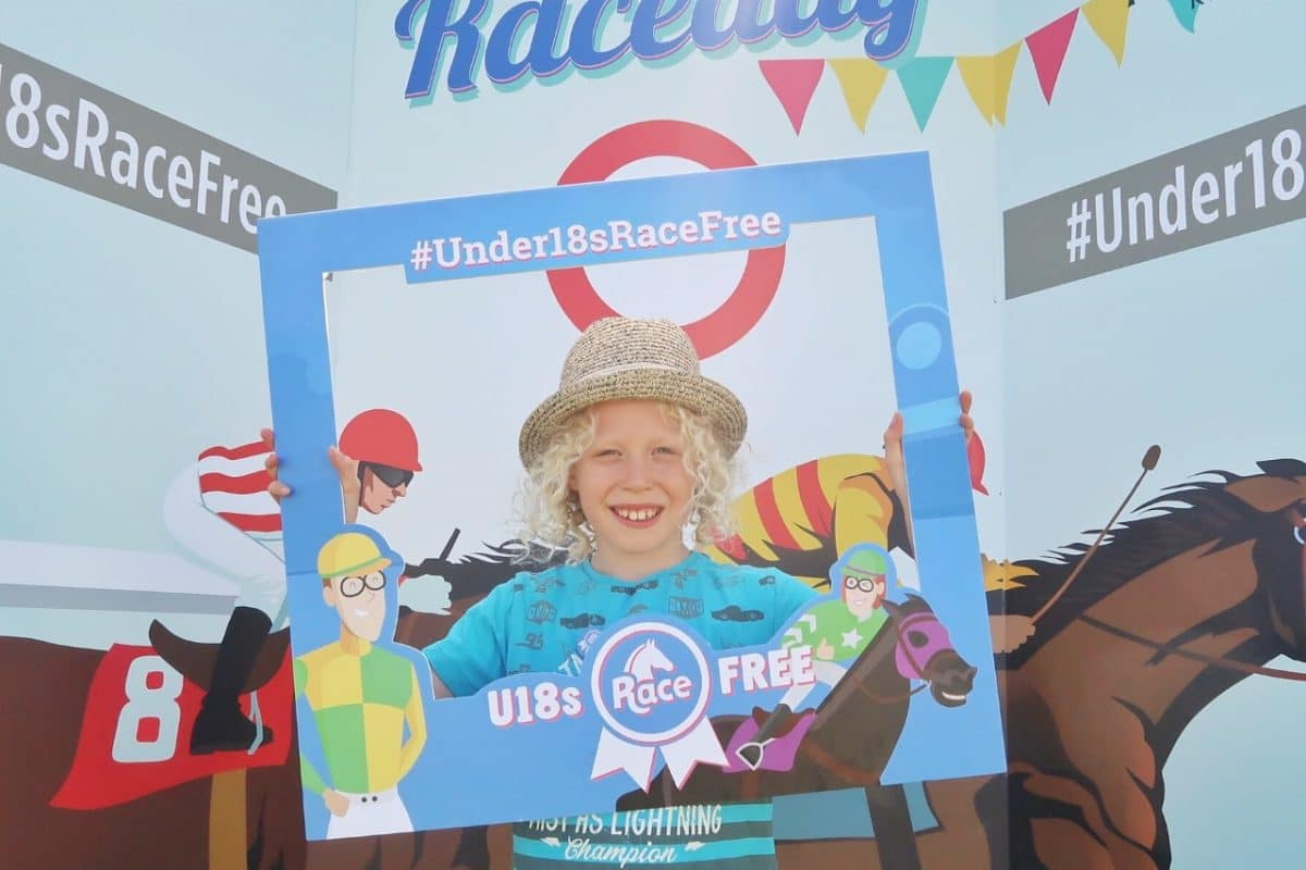 musselburgh race course family day holding up selfie square